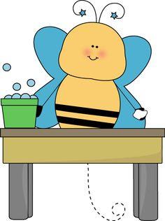 bee pencil monitor clip art bee pencil monitor vector image clip rh pinterest com