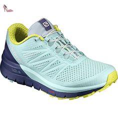 Salomon  Sense Pro Max W, Sneakers trail-running femme - bleu - Bleu (Fair Aqua/Crown Blue/Sulphur Spring), 41 1/3 EU - Chaussures salomon (*Partner-Link)