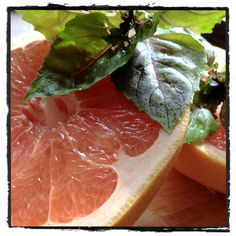 Grapefruit + Opal Basil + Lemon Simple Syrup + Gin = #GardenPartyChat Sipper by @AnAppealingPlan