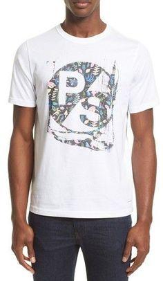 Paul Smith Men's Floral Logo Graphic T-Shirt