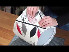 Como hacer una pantalla para lámpara - YouTube