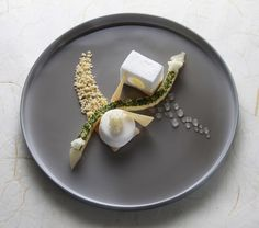 dessert - this plating is so good I don't even need to eat it, just look