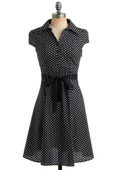 Love the black and white polka dots and the ribbon!