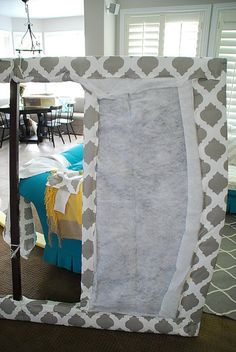 headboard staple the fabric on