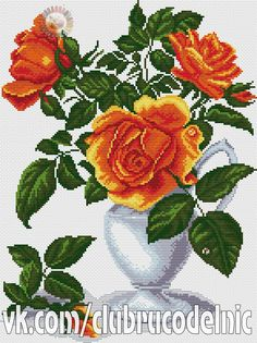 Community wall photos – 49,775 photos | VK Cross Stitch Rose, Cross Stitch Flowers, Embroidery Patterns Free, Cross Stitch Patterns, L Love You, Carnations, Crochet, Needlework, Diy And Crafts