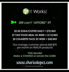 You can make it work!  You just have to give it a TRY! Our products are preventative..  They cost a lot LESS  than prescriptions!