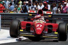 Jean Alesi (FRA) (Scuderia Ferrari), Ferrari F93A - Ferrari Tipo 041 3.5 V12 (finished 3rd)  1993 Monaco Grand Prix, Circuit de Monaco