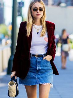 Street style-approved tips for making velvet casual and suitable for daytime—every day!