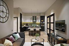 56m2-es lakás átalakítása és otthonos berendezése - két hosszú szoba helyett kényelmesebb elosztás