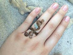Handmade aquamarine wire wrapped adjustable swirl ring from CrystalAndVein on Etsy! https://www.etsy.com/listing/203323224/aquamarine-wire-wrapped-swirl-ring?ref=listing-shop-header-0 #wirewrapped #ring #swirl #aquamarine #stone #jewelry #hipster #urban #boho #crystalandvein #handmade #wire #adjustable