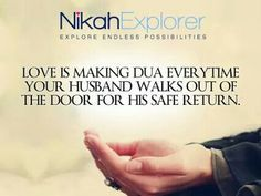 ♡ is making dua for hubby