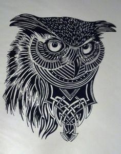 Owl Art Print - Guerrero de Buho