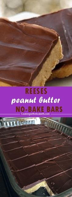 BAKE Reese's Peanut Butter Bars taste just like a peanut butter cup and are f. NO BAKE Reese's Peanut Butter Bars taste just like a peanut butter cup and are f.,NO BAKE Reese's Peanut Butter Bars taste just like a peanut butter cup and are f. Reese's Peanut Butter Bars, Peanut Butter Squares, Peanut Butter Desserts, Creamy Peanut Butter, Reeses Peanut Butter Filling Recipe, Peanutbutter Bars No Bake, Chocolate Chip Cookies, Melting Chocolate Chips, Chocolate Desserts