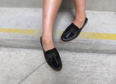 US Style blogger Brenda Wasylucha styles our GEE backless loafers the high street way