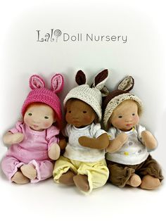 PDF Pattern with Kit supplies  for 12 Floppy Baby Doll    **Please note this is a PDF Pattern and not the finished toy. No refunds for pattern