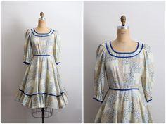 60s Lolita Dress / Square Dance Dress / Full Skirt Dress / Size S/M by PARASOLvintage on Etsy