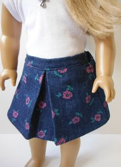 18 inch Doll Clothes fits American Girl  Floral by HoleInMyBucket, $7.00