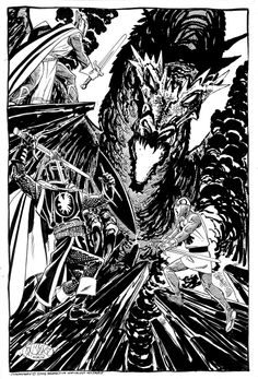 Silent Knight, Black Knight & Shining Knight by John Byrne
