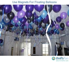 Helium balloons looks fabulous at any party BUT they are very expensive. I thought of an idea that could allow you to cheat and that is to inflate your balloon and then pop inside a small magnet.