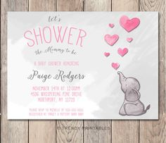Baby Shower Invitation Pink Baby Shower by TrendyPrintables