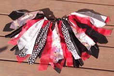 Pirate costume - Pirate Princess Tutu - Halloween Tutu, shabby  chic fabric and tulle tutu skirt - Choose your size