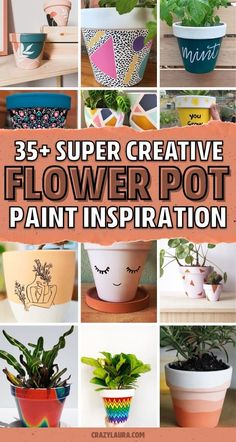 Terracotta Flower Pots, Clay Flower Pots, Flower Pot Crafts, Clay Pot Crafts, Ceramic Flower Pots, Clay Pots, Painted Plant Pots, Painted Flower Pots, Pots D'argile