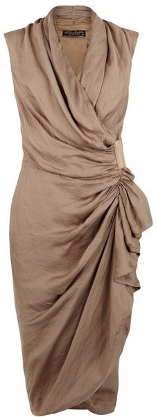 Allsaints Cancity Dress in Beige (ochre) - Lyst
