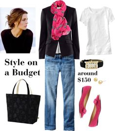 """Pops of Pink"" by bluehydrangea ❤ liked on Polyvore"