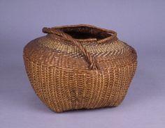 Burke Museum Object |  Basket.  Culture of origin:  Siletz?.  Materials:  Cedar Root, Bear Grass, Twill Plaited, Twined, Wicker Weave