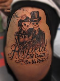 day of the dead chest tattoos | eva-day-of-the-dead-wedding-til-death-do-us-part.jpg
