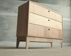 plywood chest of drawers VENT (polish design)