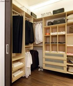 Small walk in closet ideas on pinterest closet - Esempi di cabine armadio ...