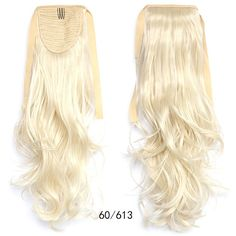 Ponytail Hair Extension Piece Wavy Tie On Long Sexy Synthetic Best Quality Ponytail Hair Piece, Wavy Ponytail, Ponytail Hair Extensions, Ombre Hair Extensions, Ponytail Hairstyles, Human Hair Extensions, Beige Blonde, Light Blonde, Blonde Color