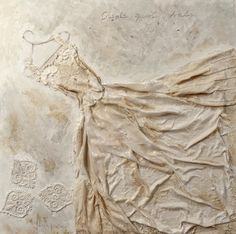 wedding dress series, by Babi Sugarman  Mixed media on wood