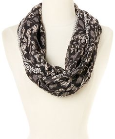 Another great find on #zulily! Ivory Chain Link Lace Attraction Infinity Scarf by Betsey Johnson #zulilyfinds