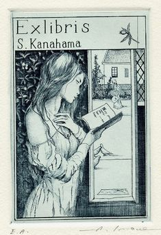 The Sensuous, Beautiul ex-libris of Alphonse Inoue