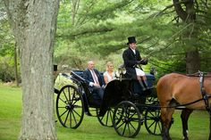bride-with-father-of-the-bride-in-horse-drawn-carriage-top-hat-unique-transportation-grand-entrance Wedding Transportation, Horse Drawn, Grand Entrance, Farm Wedding, Big Day, Vintage Cars, Equestrian, Tent, Backyard