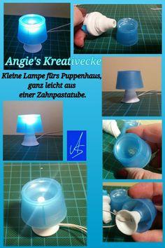 Lampe fürs Puppenhaus - Diy easy / ganz einfach aus einer Zahnpastatube Dollhouse miniatures