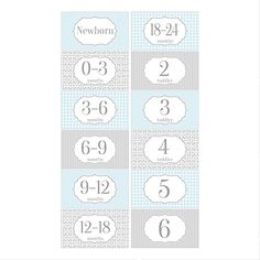 Gift Set of 6 Rectangle Closet Organizer Dividers for Baby and Toddler Clothing with Blue and Gray Designs RCD009 ** Find out more about the great product at the image link. (This is an affiliate link and I receive a commission for the sales)