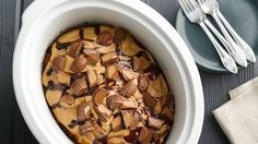 Slow Cooker Peanut Butter Cup Swirl Cake: This cake is gooey, rich and over-the-top delicious!