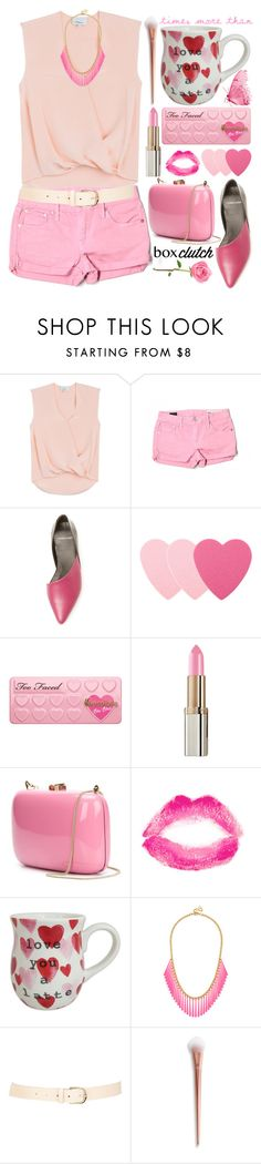 """""""Pretty Box Clutches"""" by grozdana-v ❤ liked on Polyvore featuring 3.1 Phillip Lim, Evisu, Pierre Hardy, Sephora Collection, L'Oréal Paris, Rocio, Topshop, BaubleBar, Maison Boinet and women's clothing"""