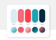 Brilliant color palette ideas in your Instagram - The Designest Flat Color Palette, Website Color Palette, Website Color Schemes, Colour Pallette, Colour Schemes, Color Schemes For Websites, Bright Color Palettes, Ui Color, Logo Color