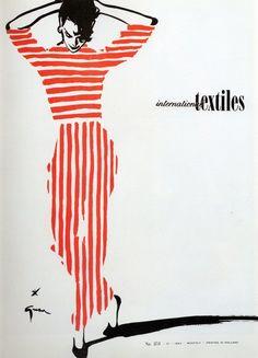 International Textiles by Gruau, 1954