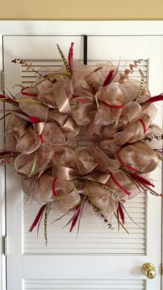 Deco Poly Mesh Wreath Instructions | ... & Crafts - Poly Deco Mesh Creations - Muted colors- deco mesh wreath