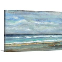 Found it at Joss & Main - 'Seashore' by Silvia Vassileva Painting Print on Canvas