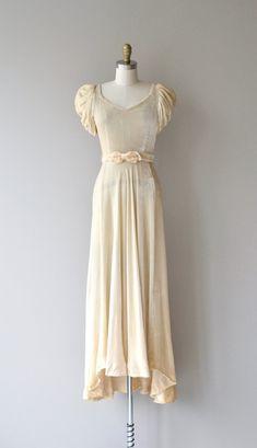 Musso Kleid 1930er Jahre Vintage Brautkleid von DearGolden