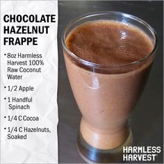 Chocolate Hazelnut Coconut Frappe. 100% #Organic #Vegan #Delicious #HarmlessRecipes