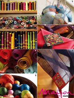 Ahhhhhhh gorgeous sewing and embroidery materials! 달숲의 실로 짓는 이야기 : 네이버 블로그 Patchwork Patterns, Textile Patterns, Quilt Patterns, Embroidery Stitches, Hand Embroidery, Korean Art, Korean Traditional, Handmade Clothes, Needlework