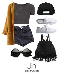 """""""Warped Tour with Jin"""" by btsoutfits ❤ liked on Polyvore featuring Topshop, American Apparel, Boohoo and Aéropostale"""