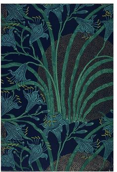 The Day Lily / Wallpaper by Walter Crane / England / 1897-98 / Colour woodblock print, on paper